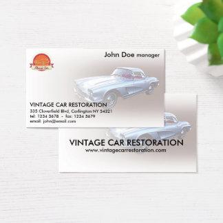 Vintage 1962 Chevy Corvette Car Restoration Business Card