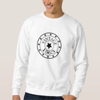 Vintage 1963 birthday year star mens sweatshirt