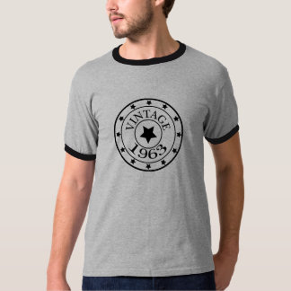 Vintage 1963 birthday year star mens t-shirt, gift T-Shirt