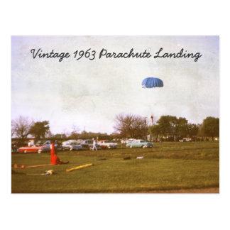 Vintage 1963 Parachute Landing Postcard