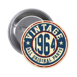 Vintage 1964 All Original Parts 2 Inch Round Button