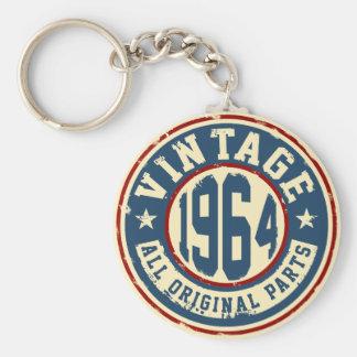 Vintage 1964 All Original Parts Basic Round Button Keychain