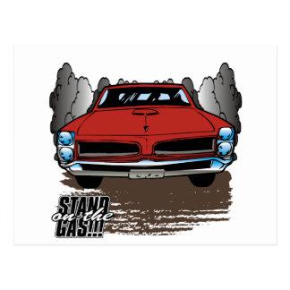 Vintage 1966 GTO Postcard
