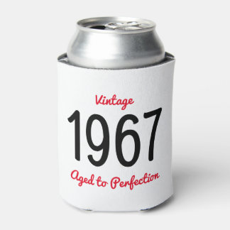 Vintage 1967 Aged To Perfection 50 Birthday Gift Can Cooler