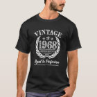 Vintage 1968 50th Birthday Saying Shirt