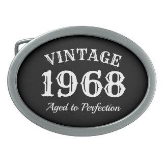 Vintage 1968 Aged to perfection 50th Birthday Belt Buckles