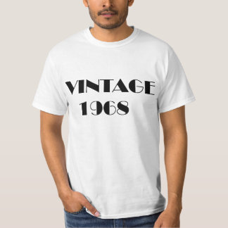 Vintage 1968 year of birth T-shirt