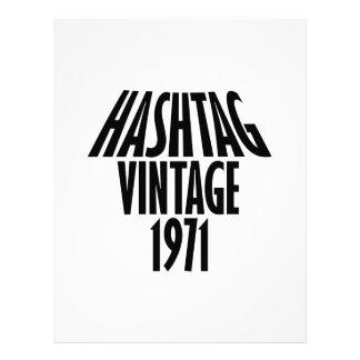 vintage 1969 designs customized letterhead