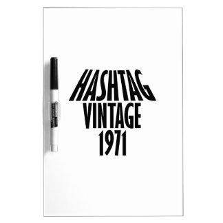 vintage 1969 designs Dry-Erase whiteboard