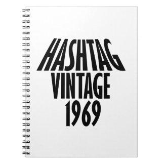 vintage 1969 designs notebooks