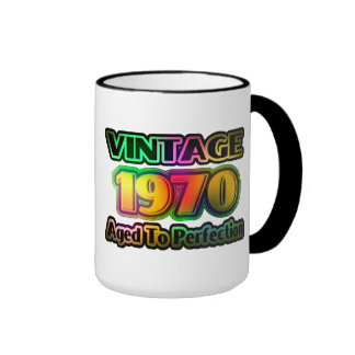 Vintage 1970 - Aged To Perfection Coffee Mugs