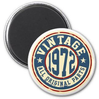 Vintage 1972 All Original Parts 2 Inch Round Magnet