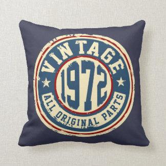 Vintage 1972 All Original Parts Throw Pillow