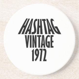 vintage 1972 designs beverage coaster