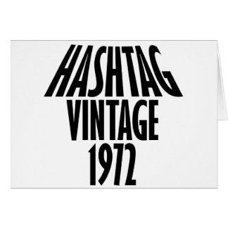 vintage 1972 designs card