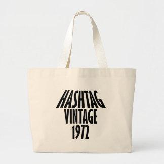 vintage 1972 designs large tote bag
