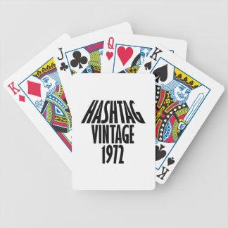 vintage 1972 designs poker deck