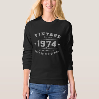 Vintage 1974 Birthday Sweatshirt