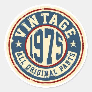 Vintage 1975 All Original Parts Round Sticker