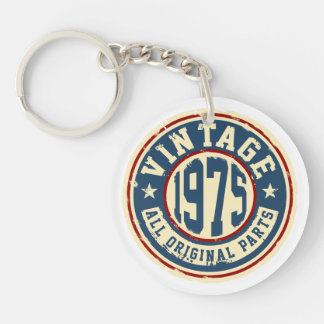Vintage 1975 All Original Parts Single-Sided Round Acrylic Keychain