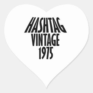 vintage 1975 designs heart sticker