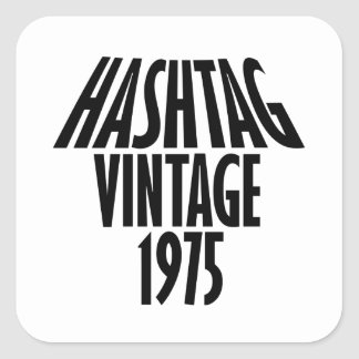 vintage 1975 designs square sticker