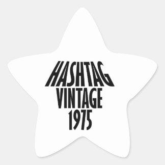 vintage 1975 designs star sticker