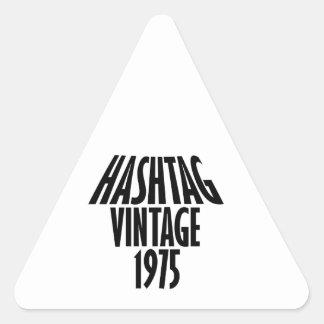 vintage 1975 designs triangle sticker