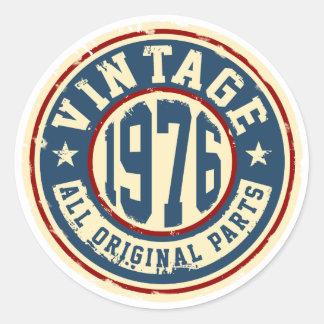 Vintage 1976 All Original Parts Round Sticker
