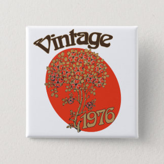 Vintage 1976 birthday party 2 inch square button