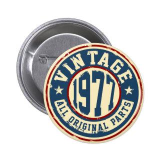 Vintage 1977 All Original Parts 2 Inch Round Button