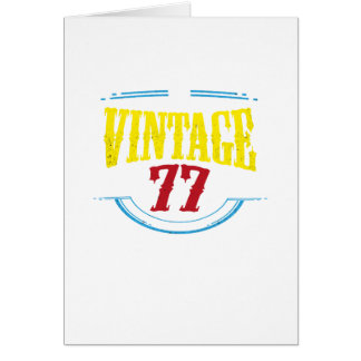 Vintage 1977 Birthday 40 year olds Funny Gift Card