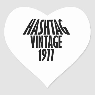vintage 1977 designs heart sticker