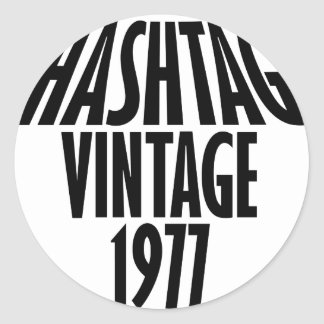vintage 1977 designs round sticker