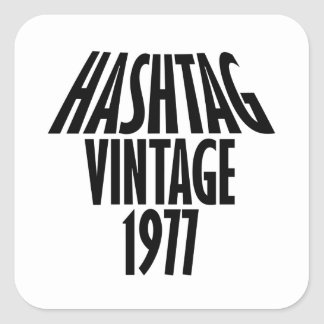 vintage 1977 designs square sticker