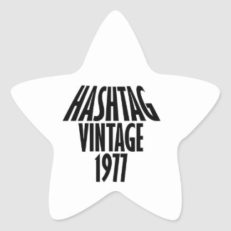 vintage 1977 designs star sticker