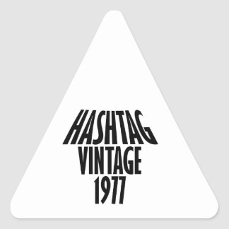 vintage 1977 designs triangle sticker