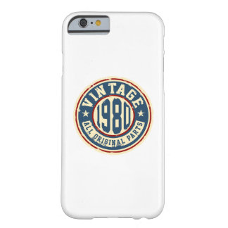 Vintage 1980 All Original Parts Barely There iPhone 6 Case