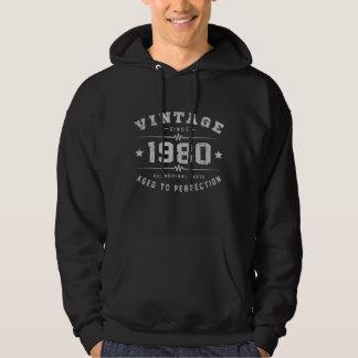 Vintage 1980 Birthday Hoodie