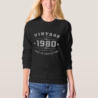 Vintage 1980 Birthday Sweatshirt