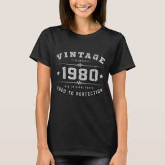 Vintage 1980 Birthday T-Shirt