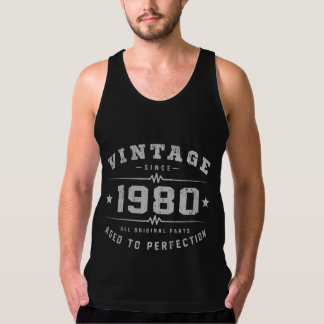 Vintage 1980 Birthday Tank Top