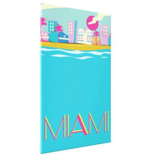 Vintage 1980s Miami Travel poster Canvas Print