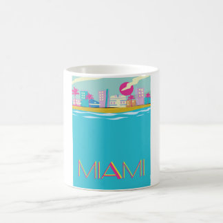 Vintage 1980s Miami Travel poster Coffee Mug