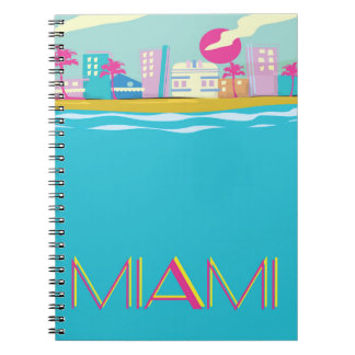 Vintage 1980s Miami Travel poster Notebook