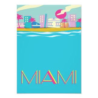 Vintage 1980s Miami Travel poster Photo Art