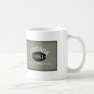 Vintage 1981 aged to perfection classic white coffee mug