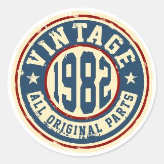 Vintage 1982 All Original Parts Round Sticker