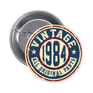 Vintage 1984 All Original Parts 2 Inch Round Button
