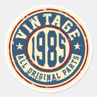 Vintage 1985 All Original Parts Round Sticker